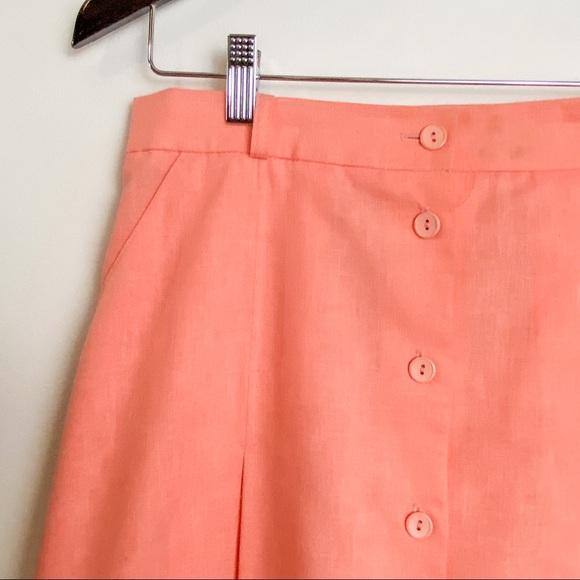 Vintage D'ALLAIRD'S a-line button-up skirt